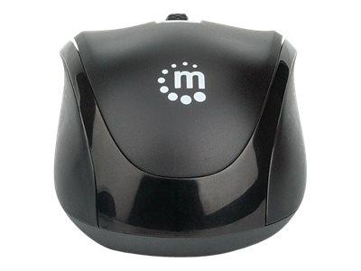 Manhattan Performance II - Maus - optisch - 3 Tasten - kabellos - RF - kabelloser Empfänger (USB)