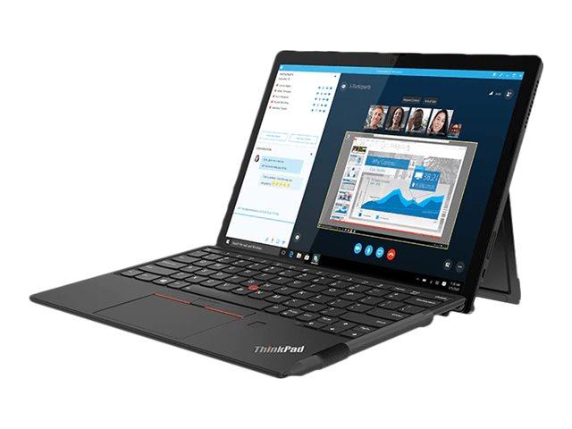"Lenovo ThinkPad X12 Detachable 20UW - Tablet - mit abnehmbarer Tastatur - Core i3 1110G4 / 2.5 GHz - Win 10 Pro 64-Bit - 8 GB RAM - 256 GB SSD NVMe - 31.2 cm (12.3"")"