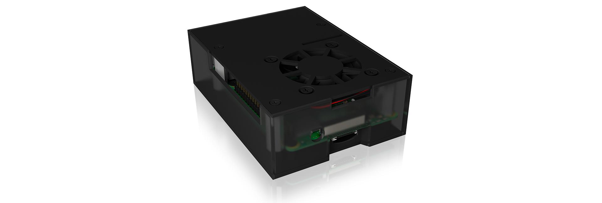 ICY BOX IB-RP108 - Hülle - Raspberry Pi - Raspberry Pi - Anthrazit - Schwarz - Aluminium - Kunststoff - China