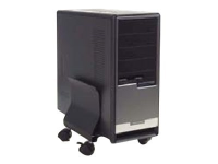 43903 CPU-Halterung Desk-mounted CPU holder Schwarz