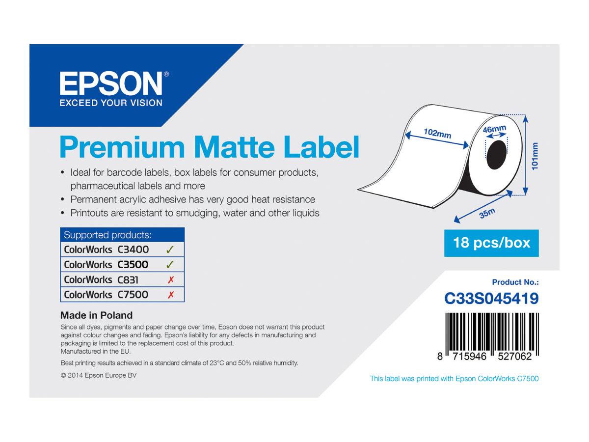 Epson Premium - Matt - Rolle (10,2 cm x 35 m) 1 Rolle(n) Etiketten-Endlospapier