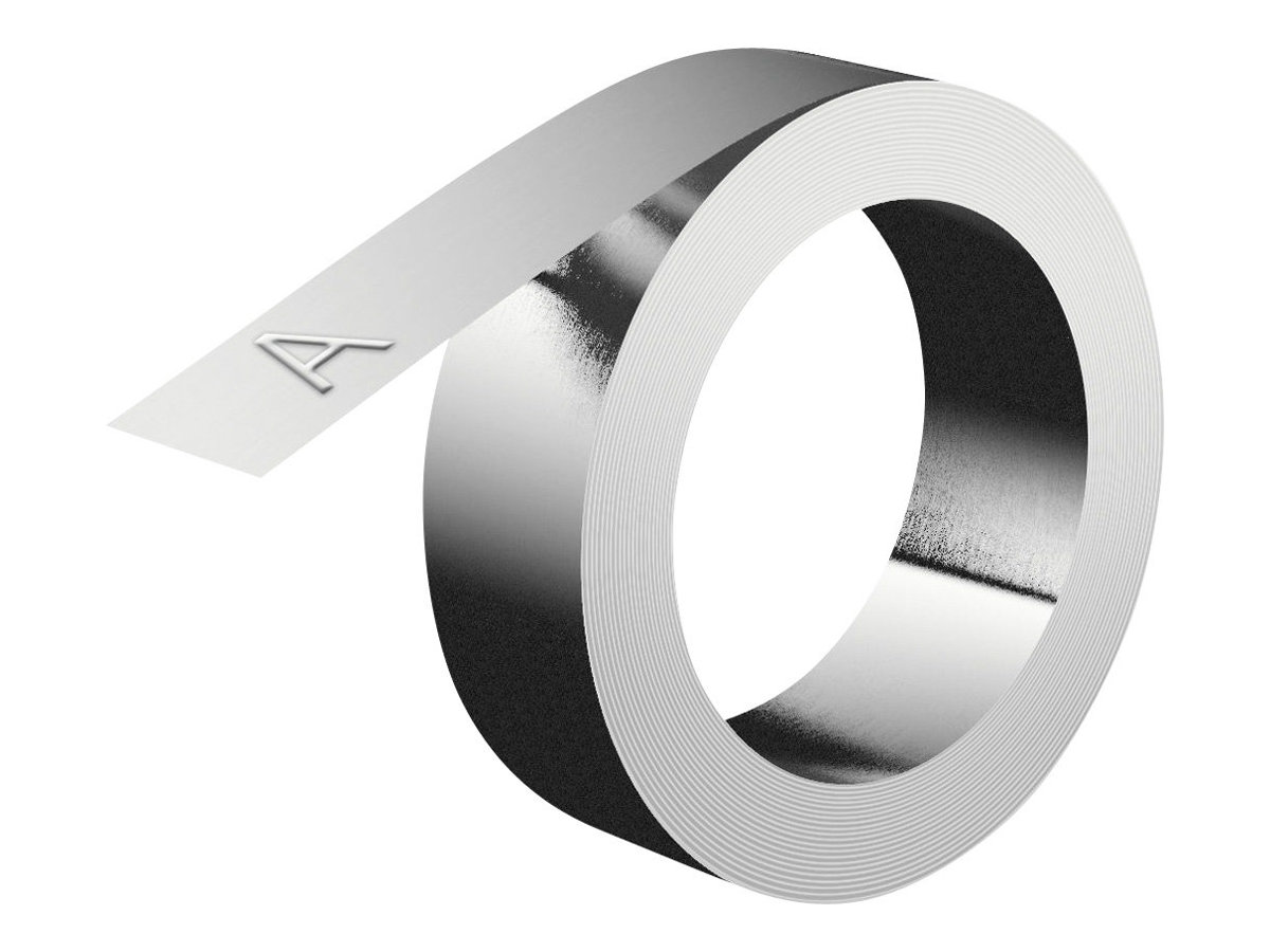 """Dymo IND Embossing Aluminum Labels 1/2"""" - Aluminium - selbstklebend - Rolle (12 mm x 3,65 m)"""