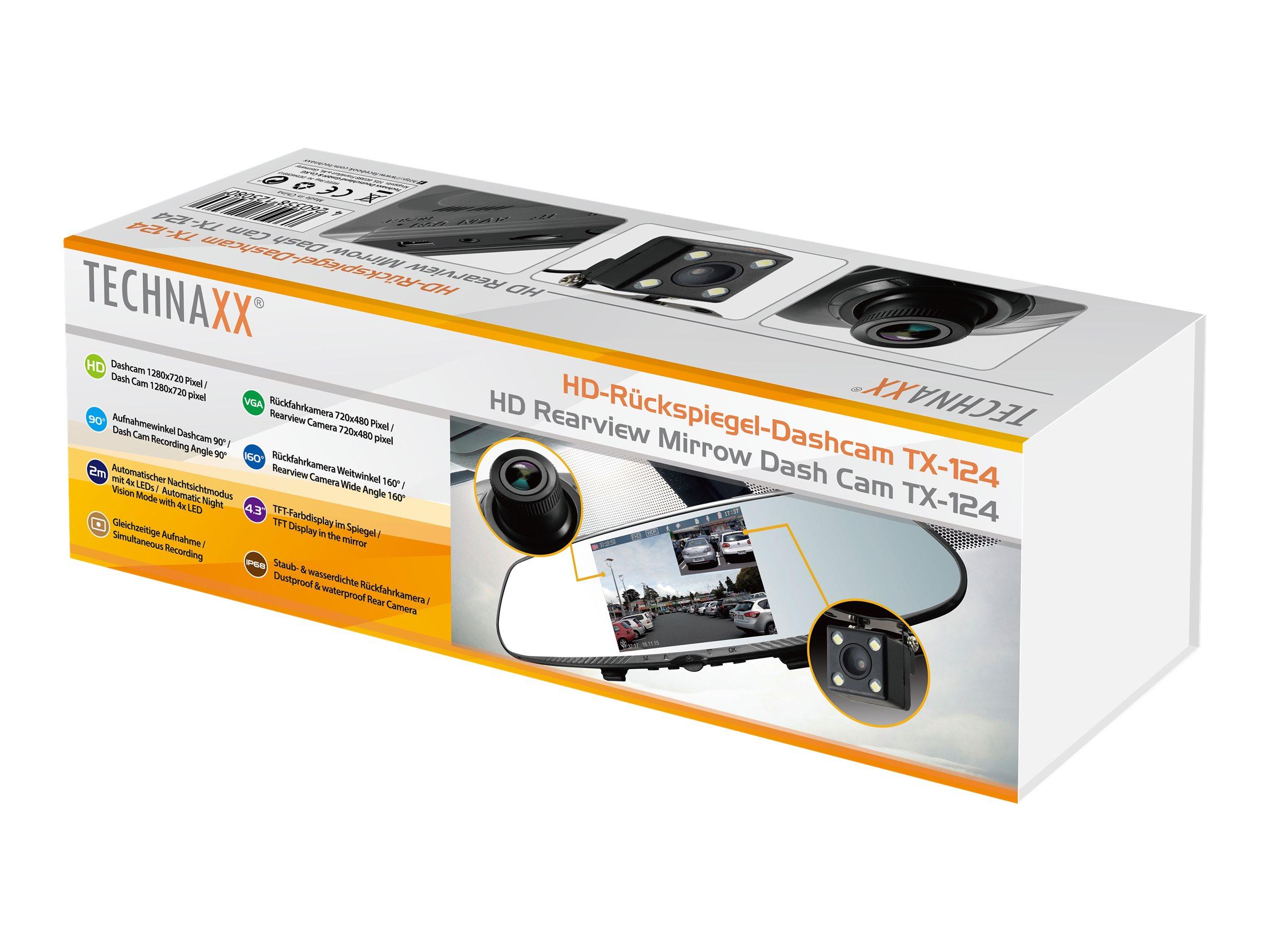 Technaxx TX-124 - Kamera für Armaturenbrett - 720p