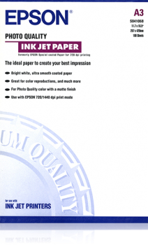 Image of Epson Photo Quality Ink Jet Paper A3 Photo Paper - 105 g/m² - 297x420 mm