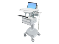 StyleView Multimedia cart Aluminium - Grau - Weiß Notebook