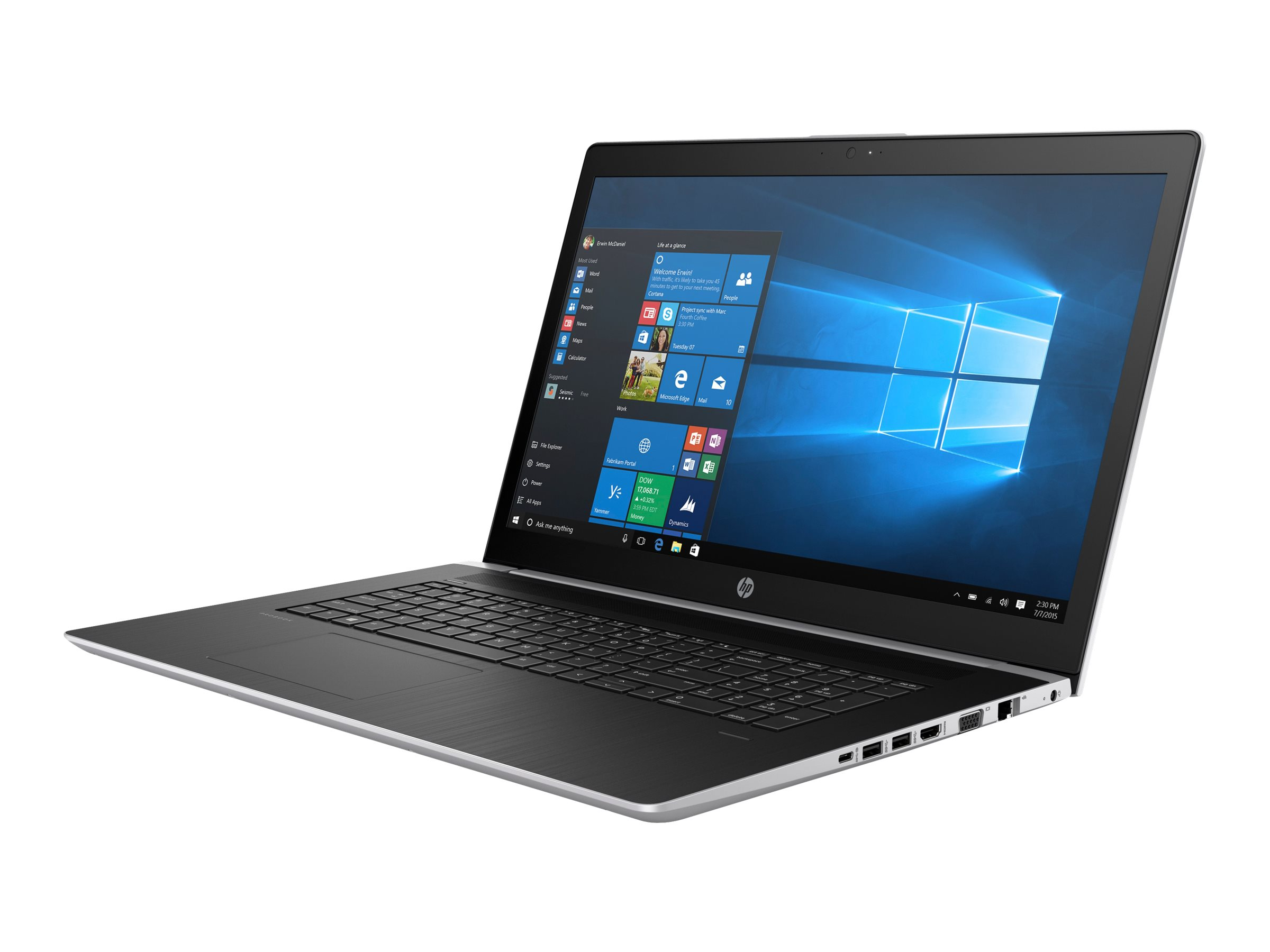"HP ProBook 470 G5 - Core i7 8550U / 1.8 GHz - Win 10 Pro 64-Bit - 8 GB RAM - 256 GB SSD NVMe, HP Value - 43.9 cm (17.3"")"
