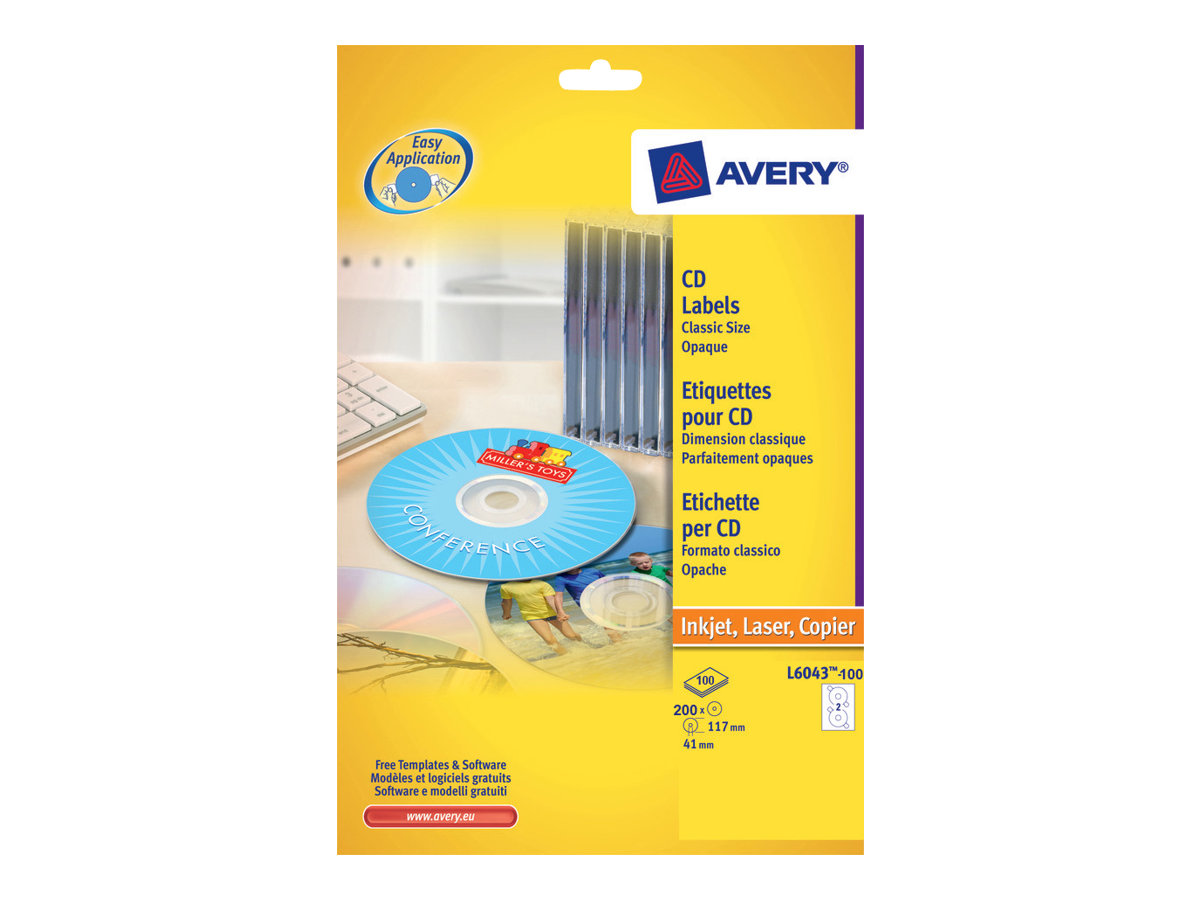 Avery Zweckform CD/DVD Labels Classic Size