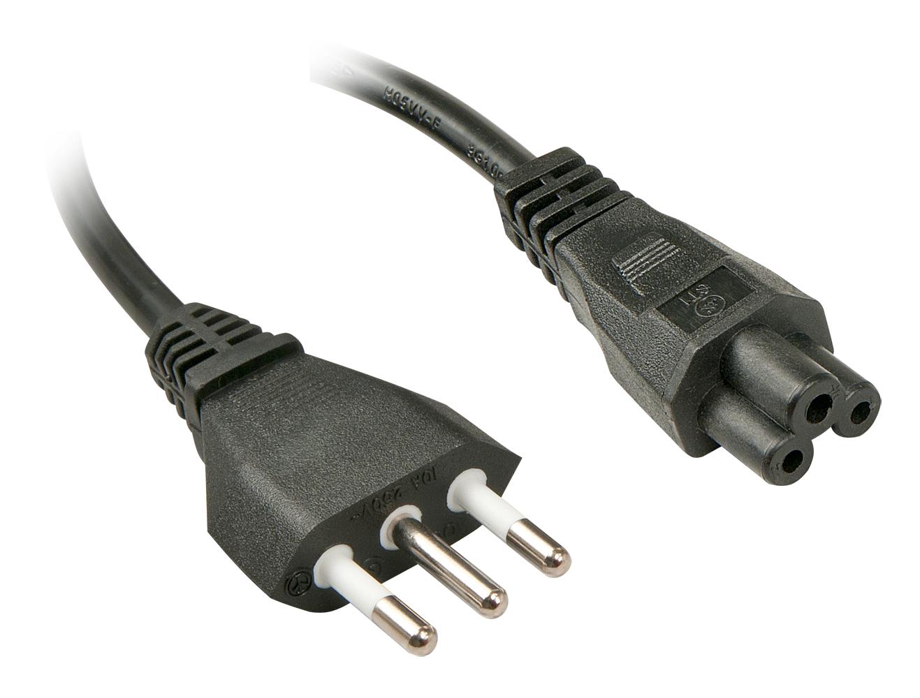 Lindy Stromkabel - IEC 320 EN 60320 C5 (M) bis CEI 23-16/VII (M) - 2 m