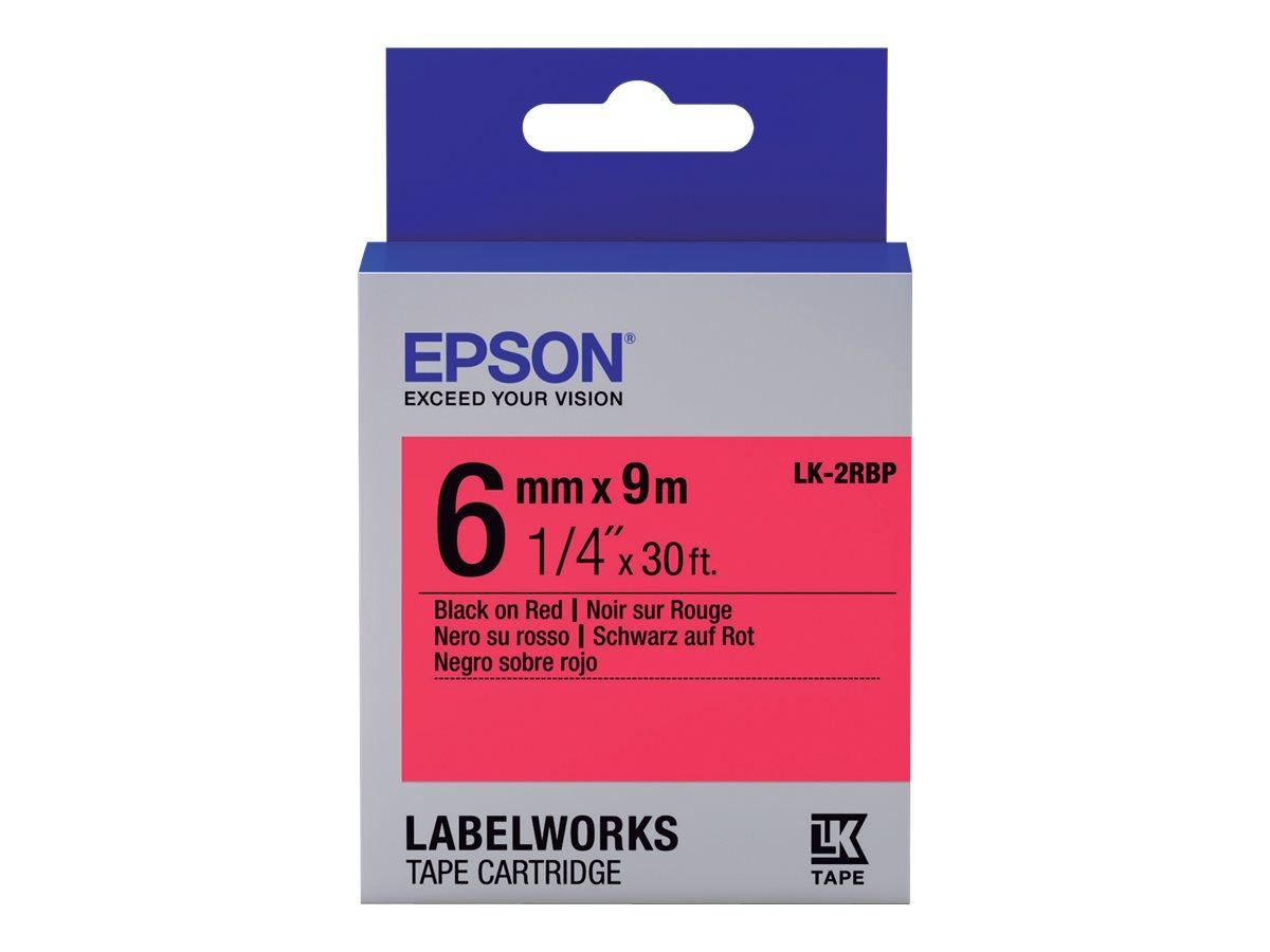 Epson LabelWorks LK-2RBP - Schwarz auf rot