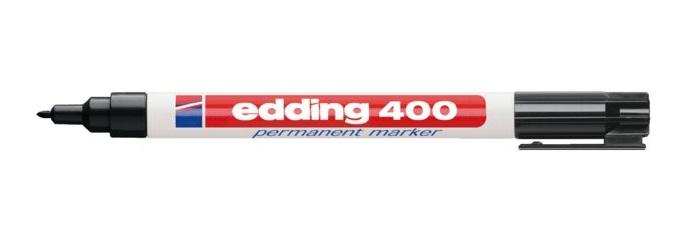 EDDING 400 Black Black,White Plastic 1 mm 10 pc(s)