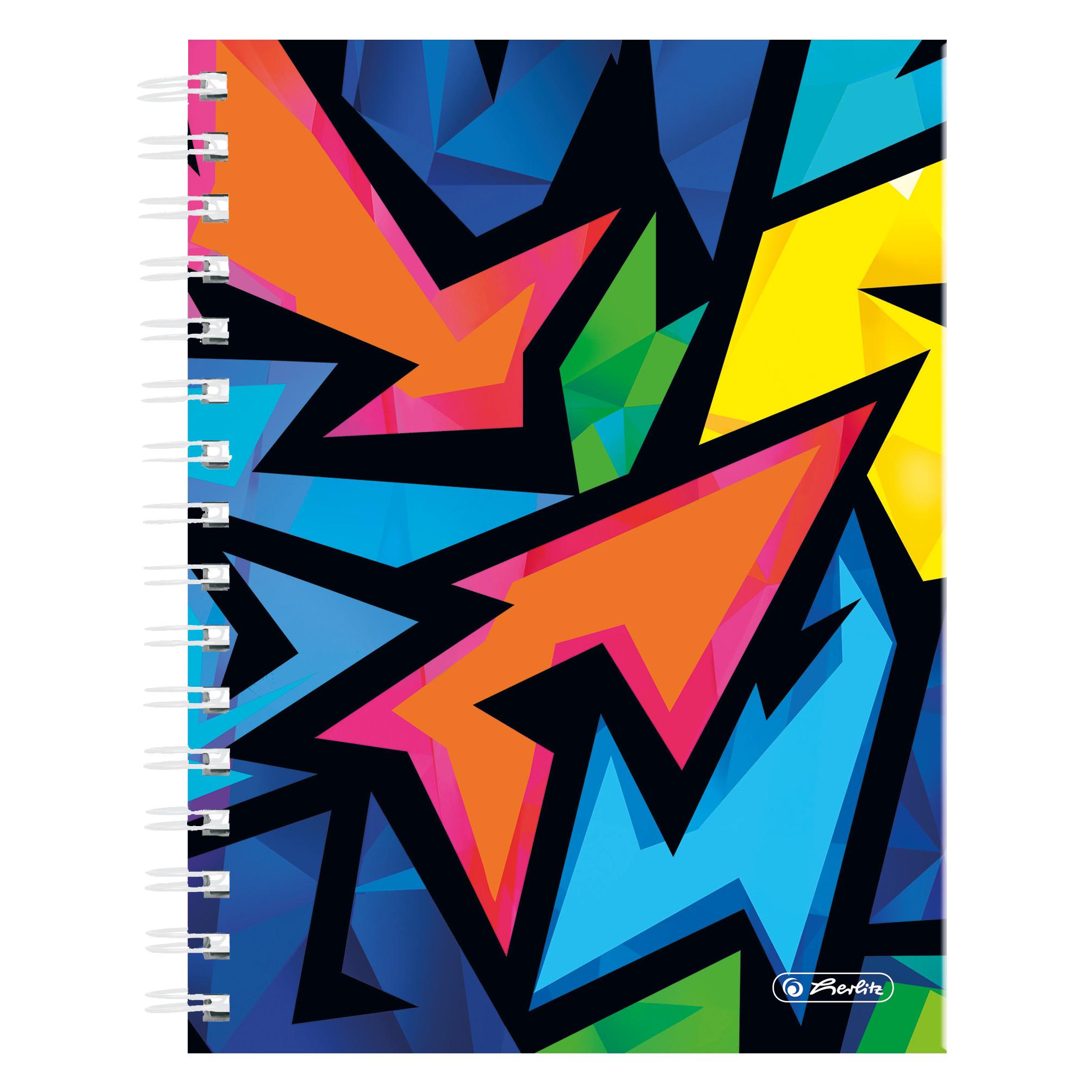 Herlitz Neon Art - Muster - Mehrfarbig - A5 - 100 Blätter - 70 g/m² - Kariertes Papier