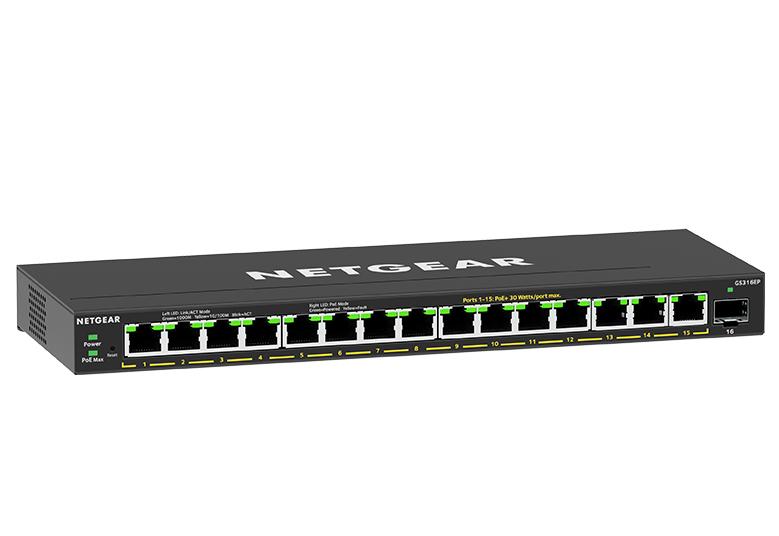 Netgear Plus GS316EP - Switch - managed - 15 x 10/100/1000 (PoE+)