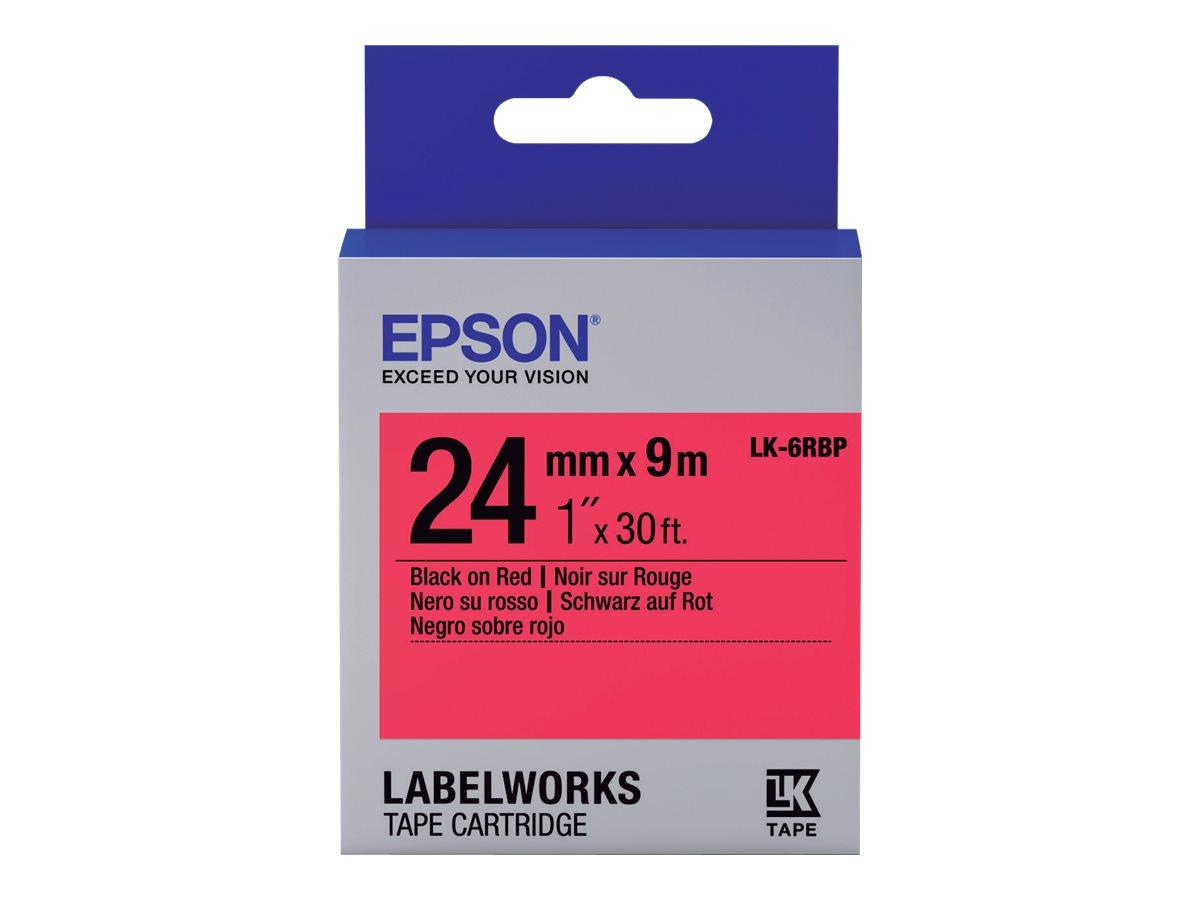 Epson LabelWorks LK-6RBP - Schwarz auf rot