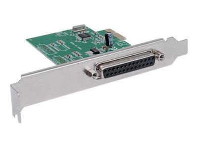 Manhattan Parallele PCI-Express-Karte, Ein DB25-Port, IEEE 1284  geeignet für PCI Express x1, x2, x4, x8 und x16