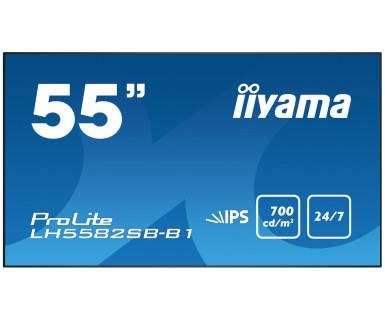 Iiyama LH5582SB-B1 Digital signage flat panel 54.6Zoll LED Full HD Schwarz Signage-Display