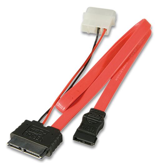 Lindy Internes Slim SATA - Kabel+ 5.25 Stromanschluss - Kabel