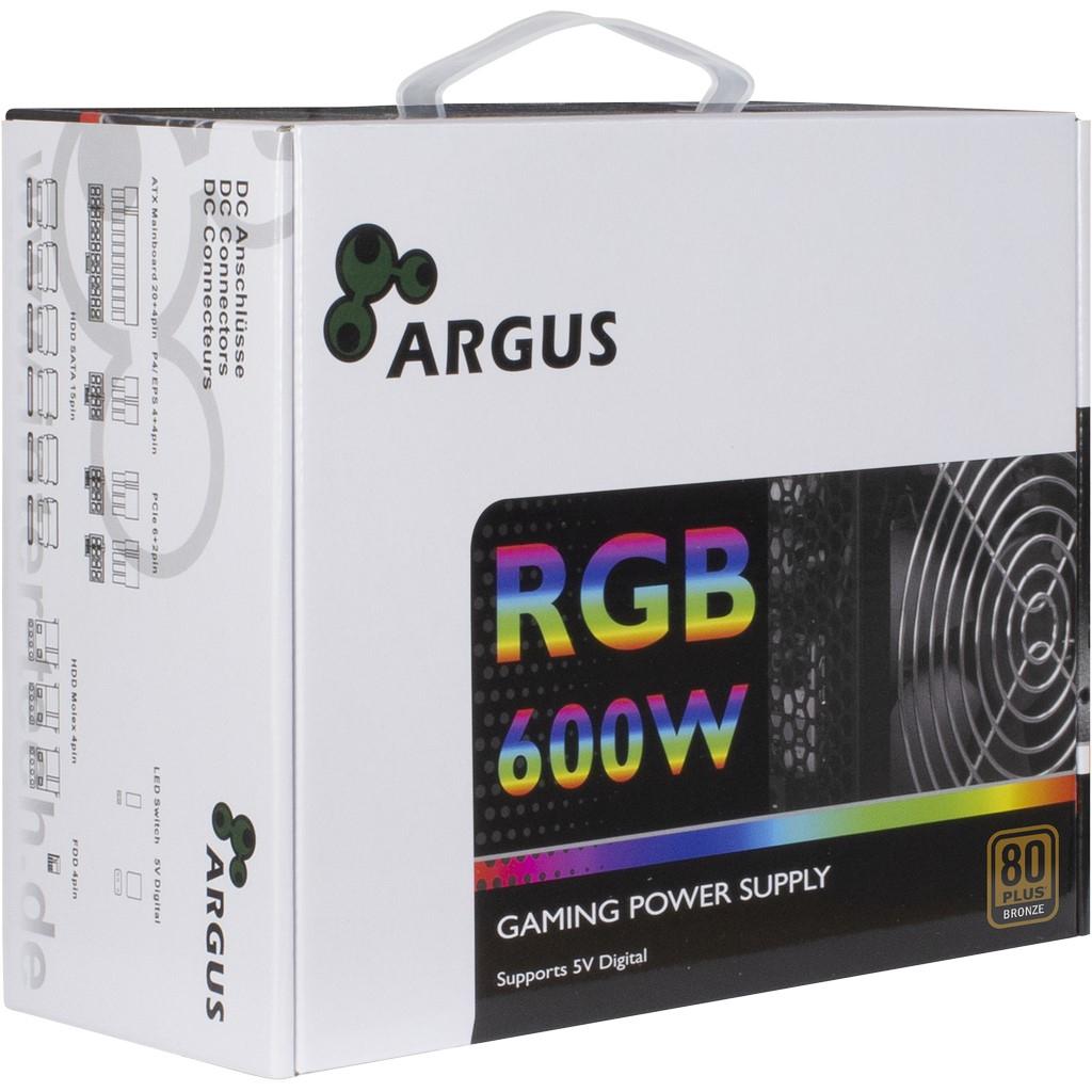 Inter-Tech Argus RGB-600W II - Stromversorgung (intern)