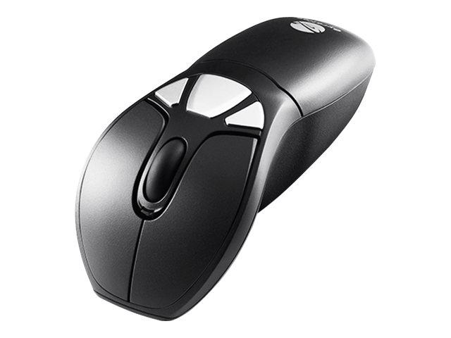 Gyration Air Mouse GO Plus - Maus - optisch / gyroskopisch - kabellos - 2.4 GHz - kabelloser Empfänger (USB)