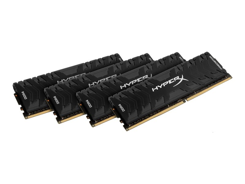 Kingston HyperX Predator - DDR4 - 32 GB: 4 x 8 GB - DIMM 288-PIN 3200 MHz / PC4-25600 - CL16 - 1.35 V - ungepuffert - non-ECC - Schwarz