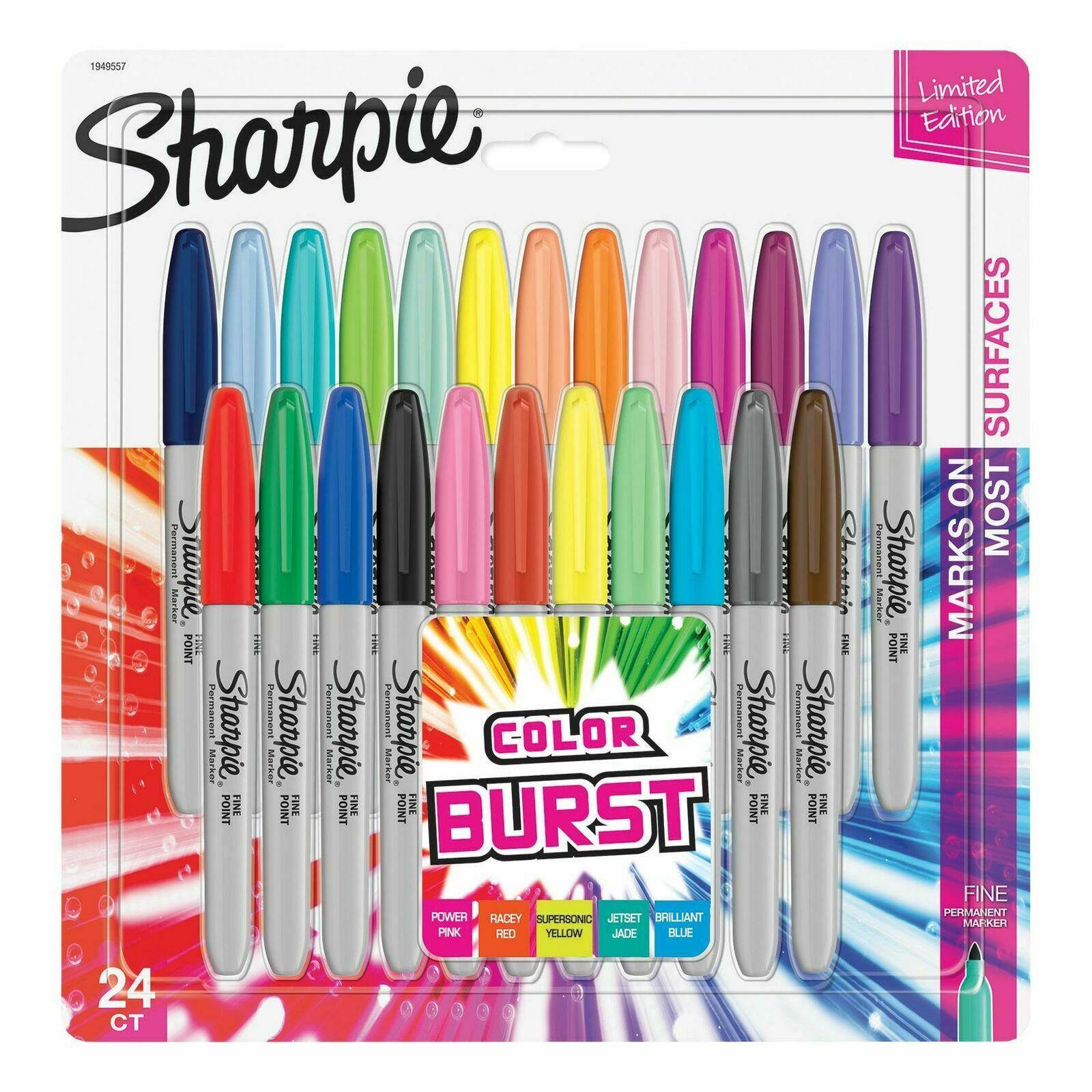 Sharpie Fine - 24 Stück(e) - Mehrfarben - Feine Spitze - Grau - Mehrfarben - Rund - Fein