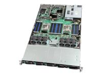 R1208WTTGSR Server-Barebone Intel® C612 LGA 2011-v3 1U Schwarz - Metallisch