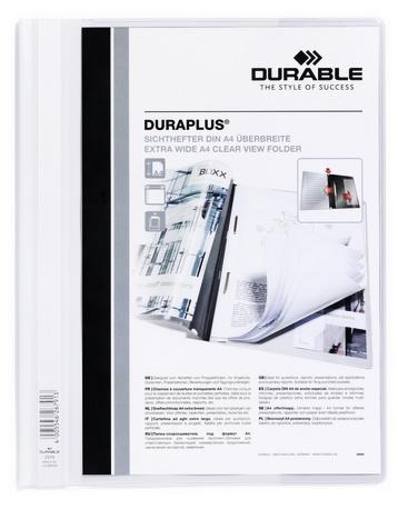 Durable Angebotshefter Duraplus Sichttasche weiß - A4