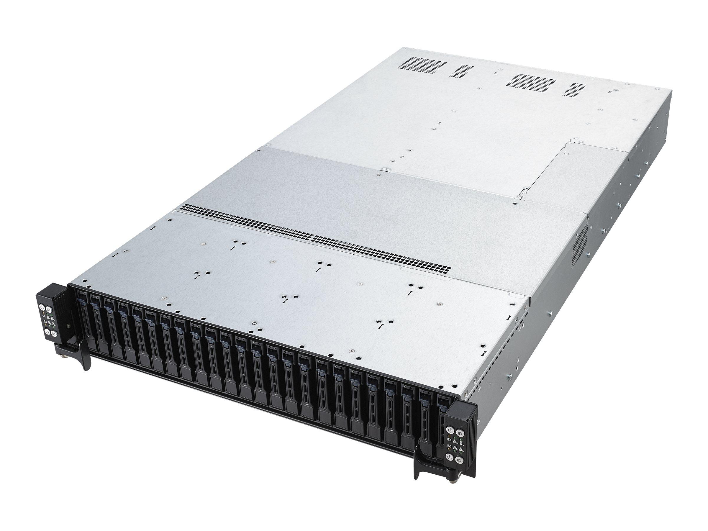"ASUS RS720Q-E9-RS24-S - 4 Knoten - Cluster - Rack-Montage - 2U - zweiweg - keine CPU - RAM 0 GB - Hot-Swap 6.4 cm (2.5"")"