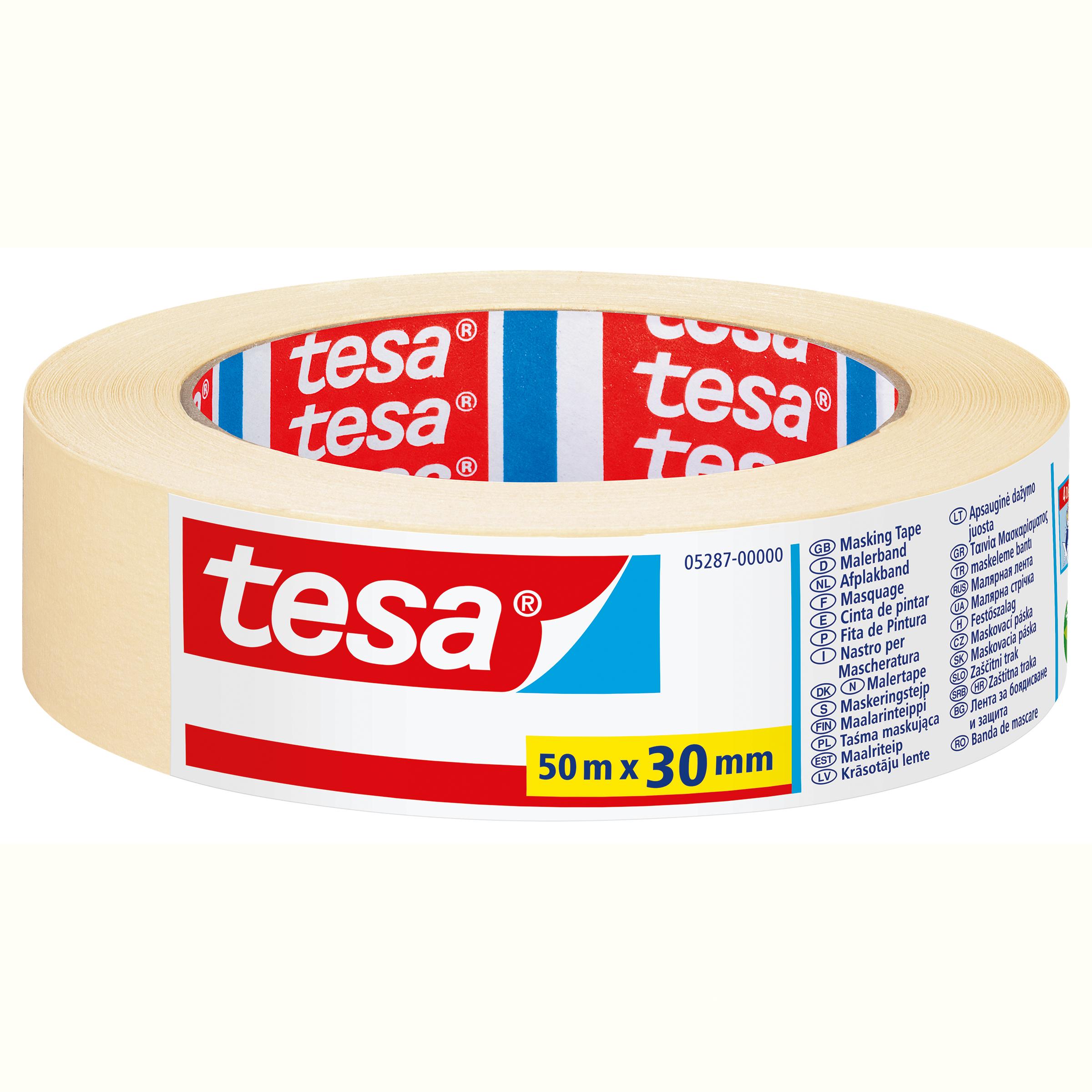 Tesa 05287 - Maler-Abdeckband - Papier - Beige - 4 Tag(e) - 50 m - 30 mm
