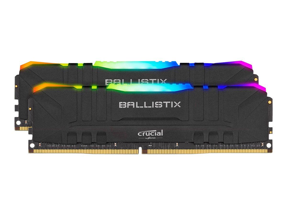 Vorschau: Crucial Ballistix RGB - DDR4 - 16 GB: 2 x 8 GB - DIMM 288-PIN