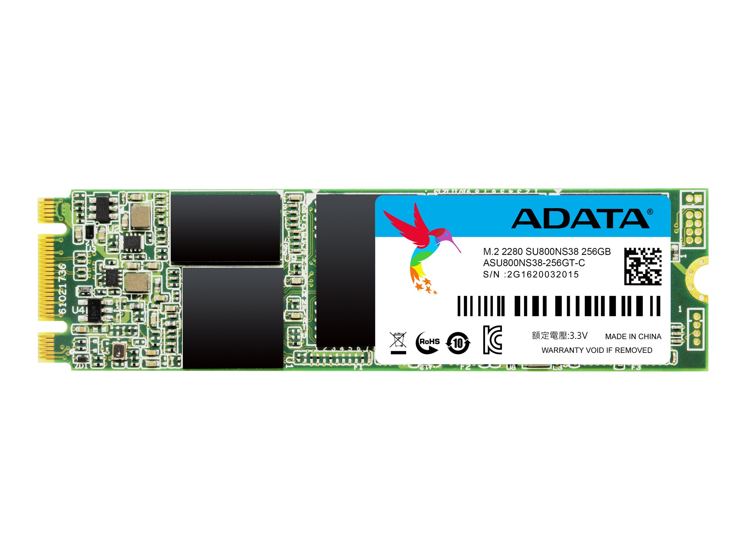 ADATA Ultimate SU800 - 256 GB SSD - intern - M.2 2280