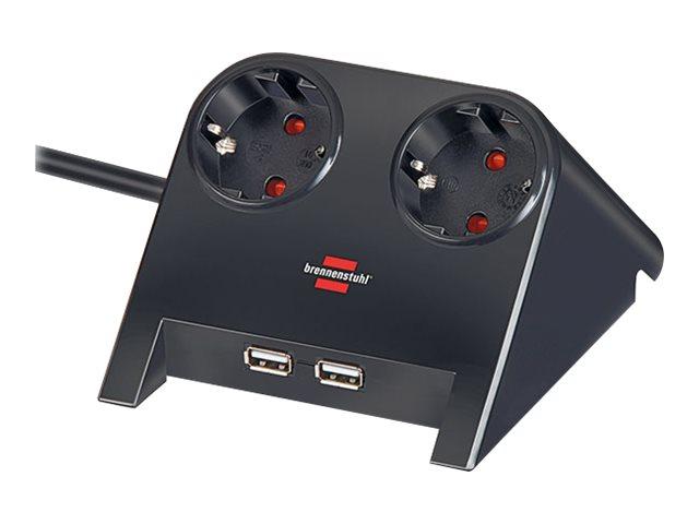 Brennenstuhl Desktop-Power USB-Charger - Verlängerungsschnur