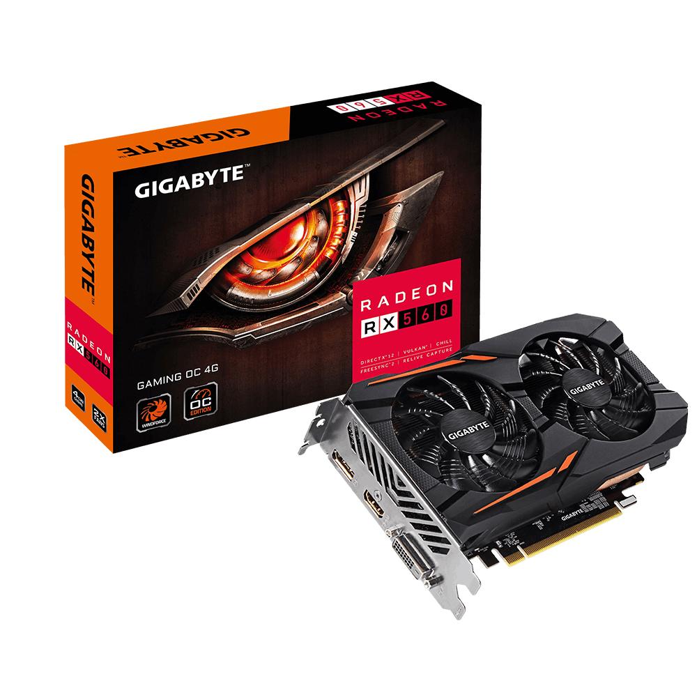 Gigabyte Radeon RX 560 Gaming OC 4G Radeon RX 560 4GB GDDR5