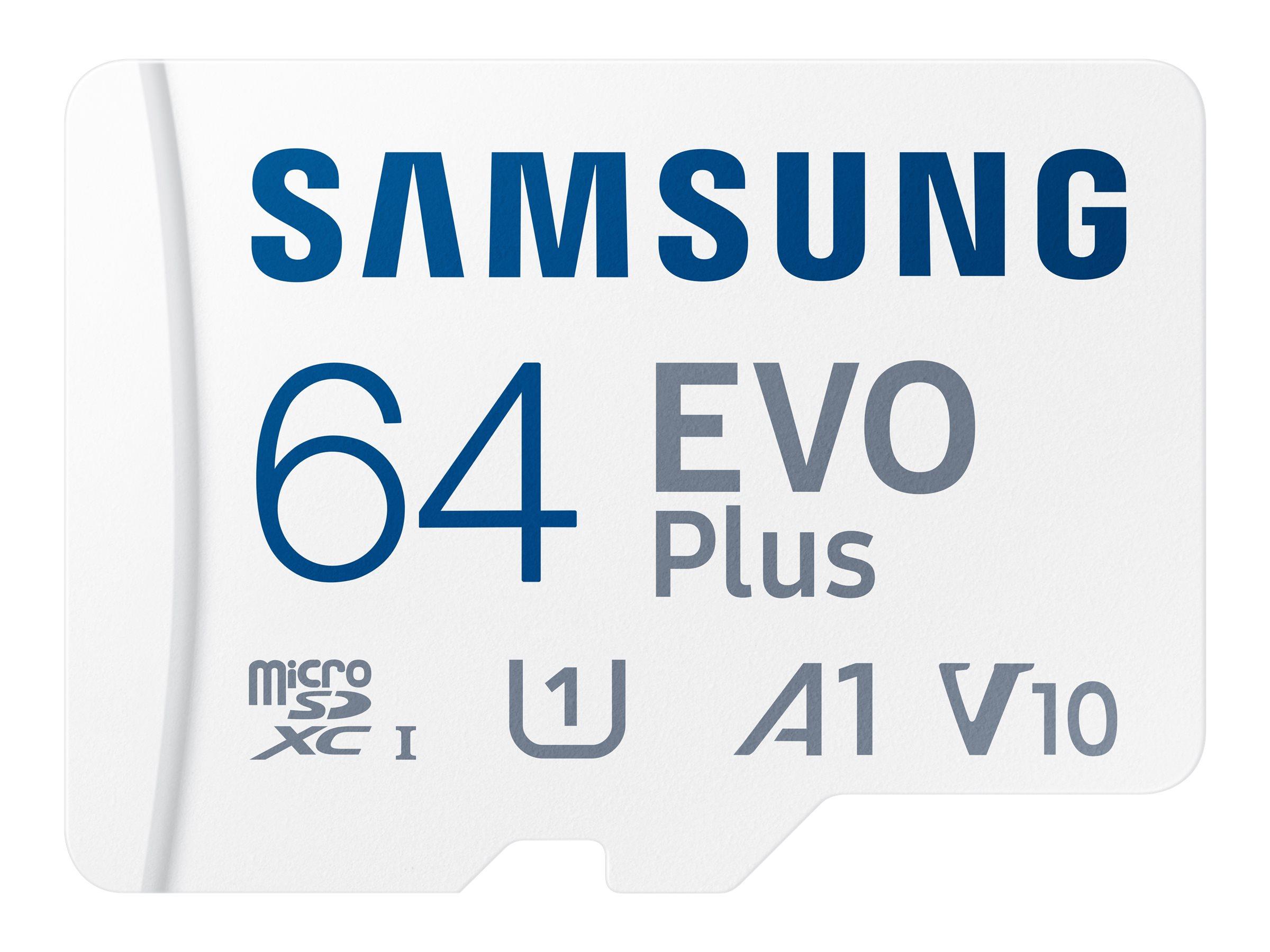 Samsung EVO Plus MB-MC64KA - Flash-Speicherkarte (microSDXC-an-SD-Adapter inbegriffen)