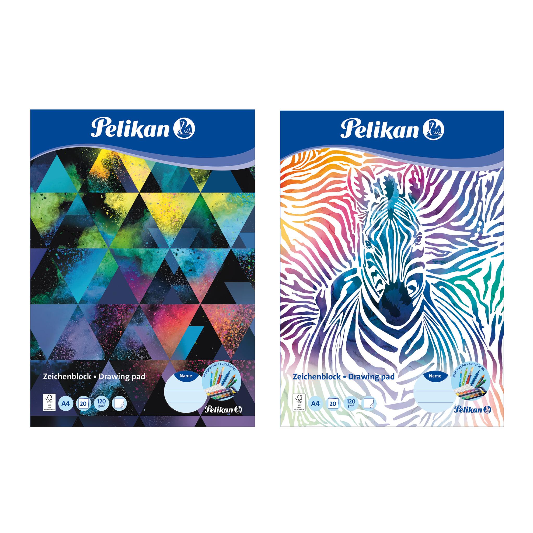 Pelikan 236782 -Zeichenblock - A4 - 120 g/m² - 20 Blätter