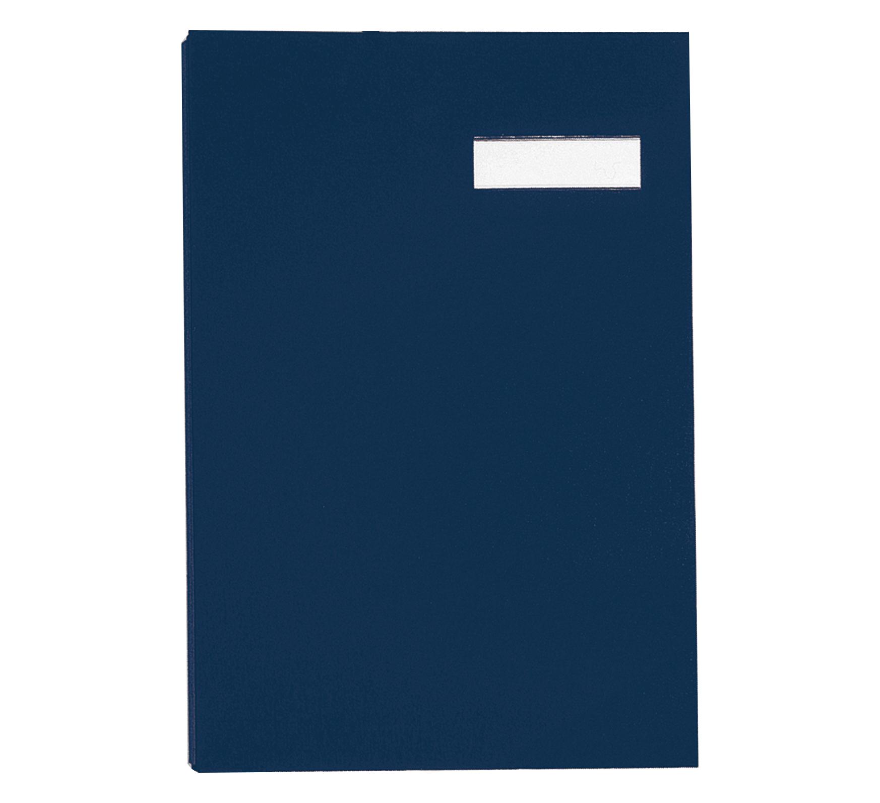 Pagna Unterschriftenmappe DIN A4 20 Fächer blau - Konventioneller Dateiordner - A4 - Pappe - Stoff - Blau - Porträt - 240 mm