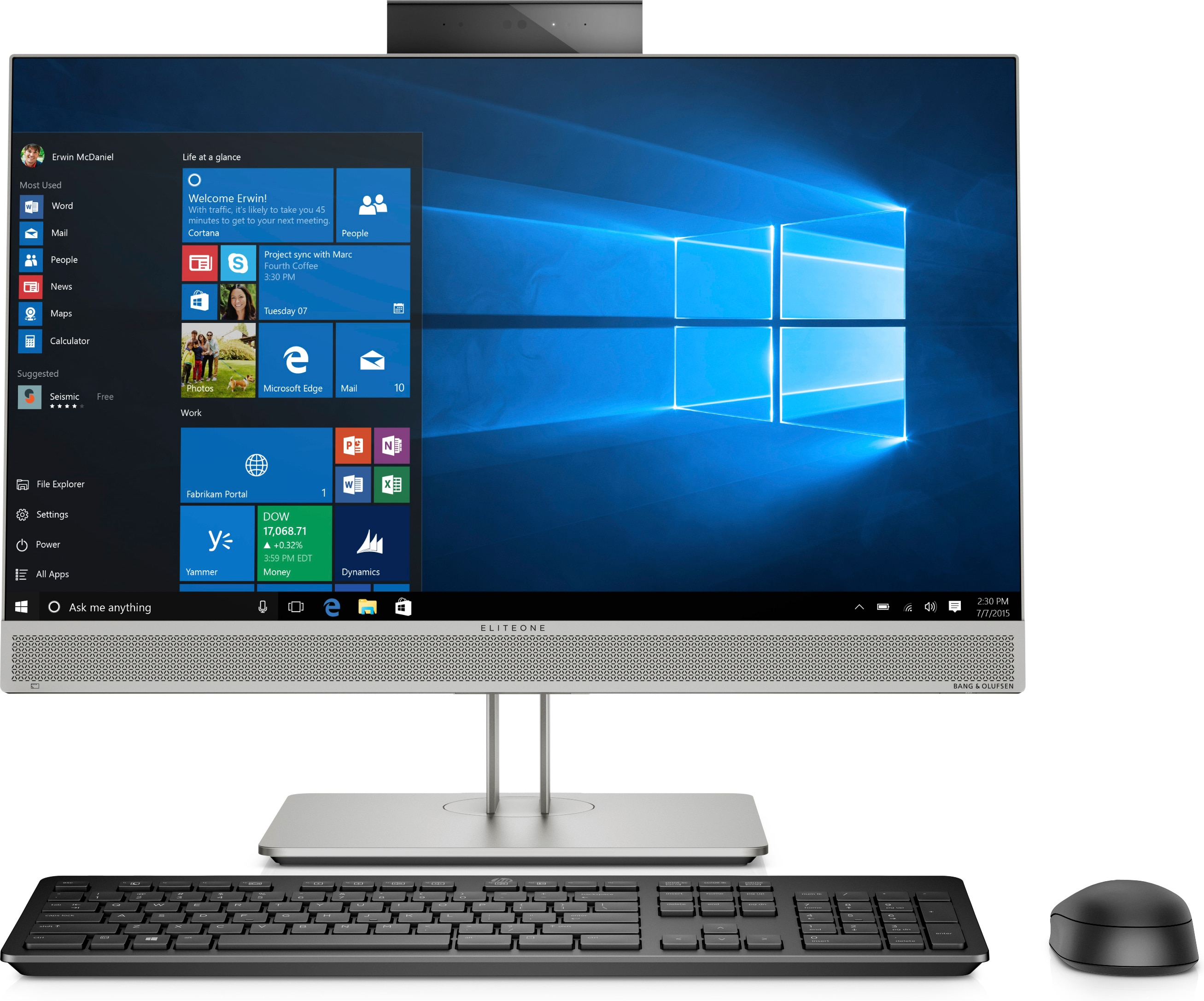 HP EliteOne 800 G5 - All-in-One mit Monitor - Core i5 3 GHz - RAM: 16 GB DDR4 - HDD: 512 GB NVMe - UHD Graphics 600