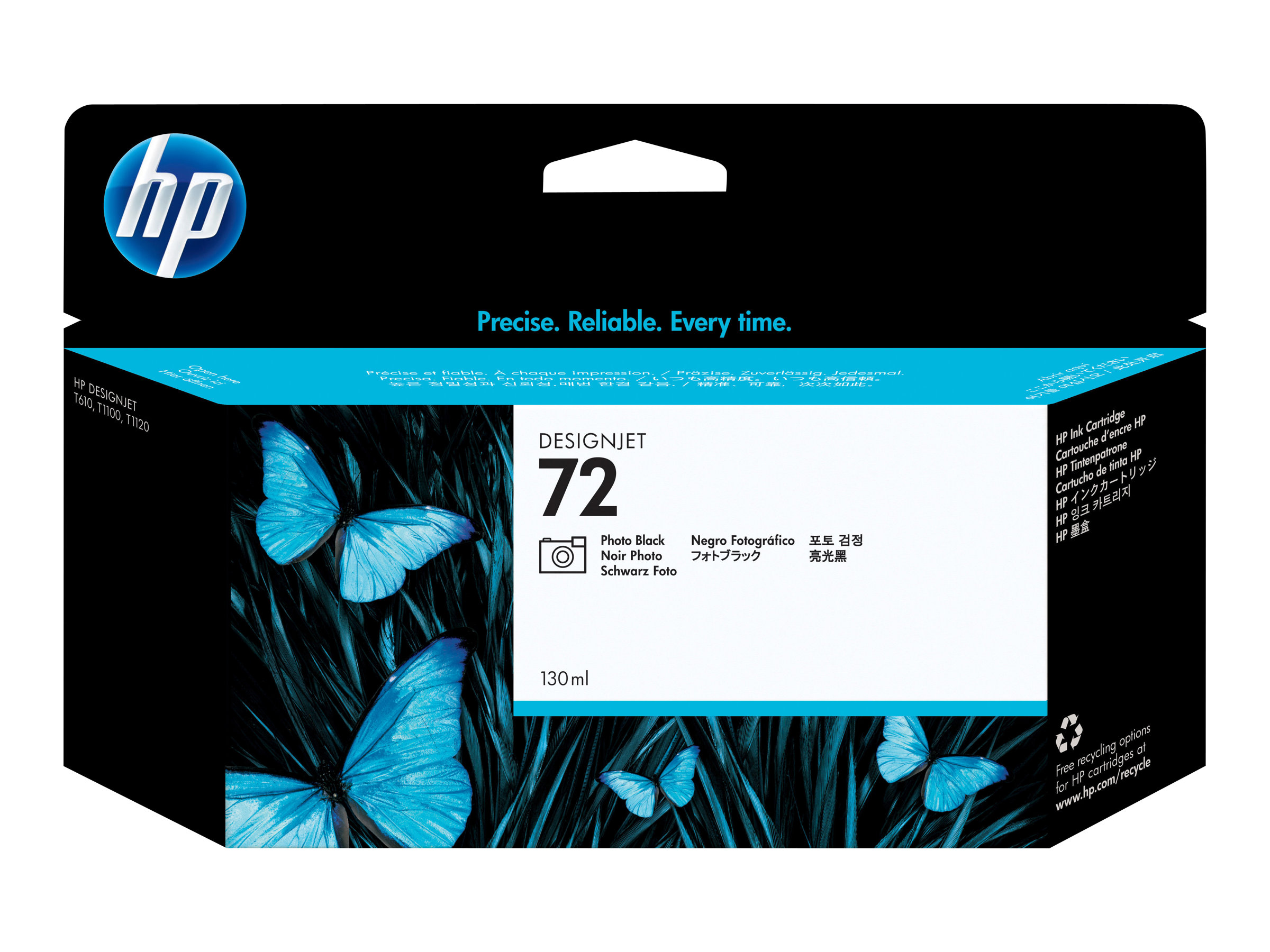 HP 72 - 130 ml - Photo Black auf Farbstoffbasis