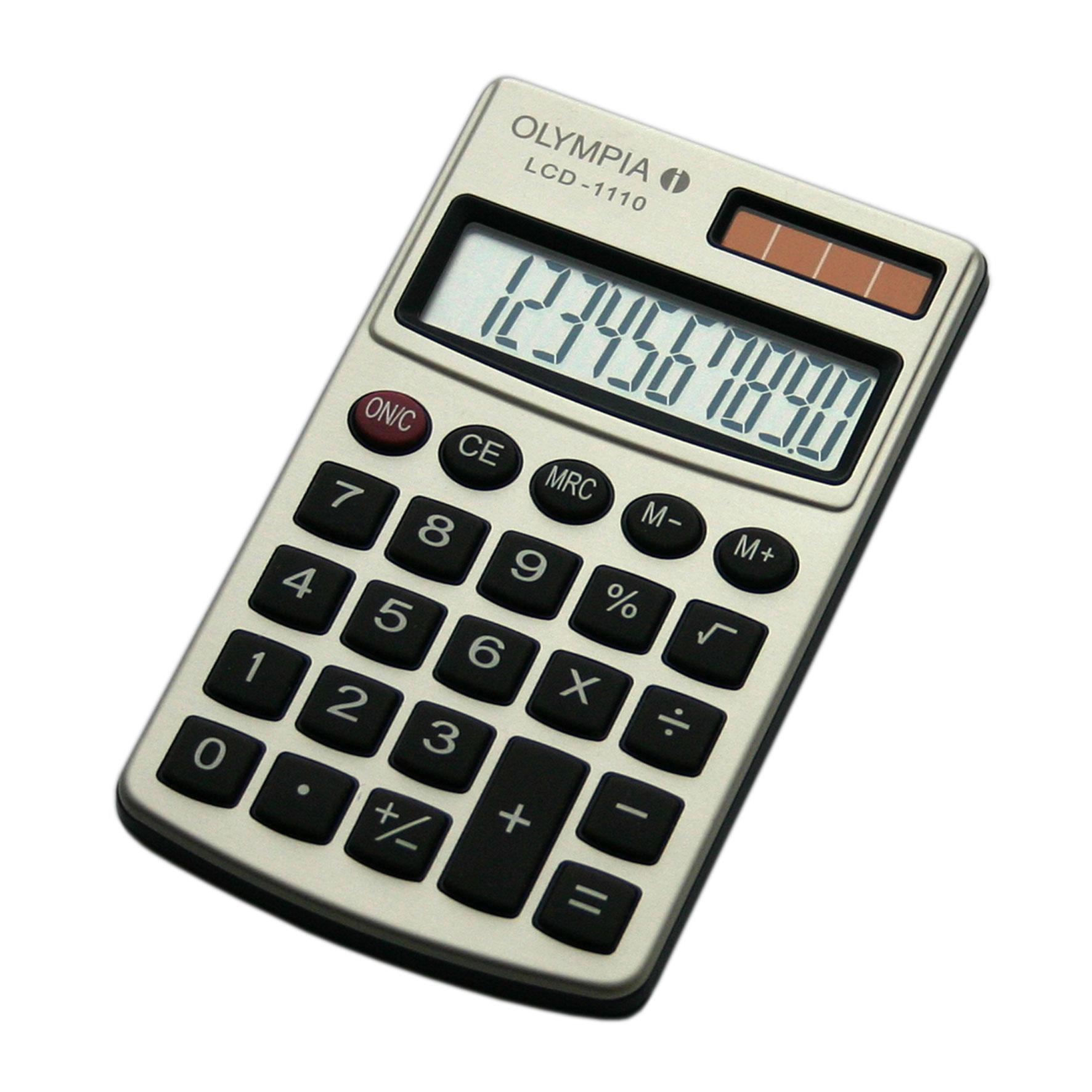 Olympia LCD 1110 - Einfacher Taschenrechner - 10-stelliges Display -silber