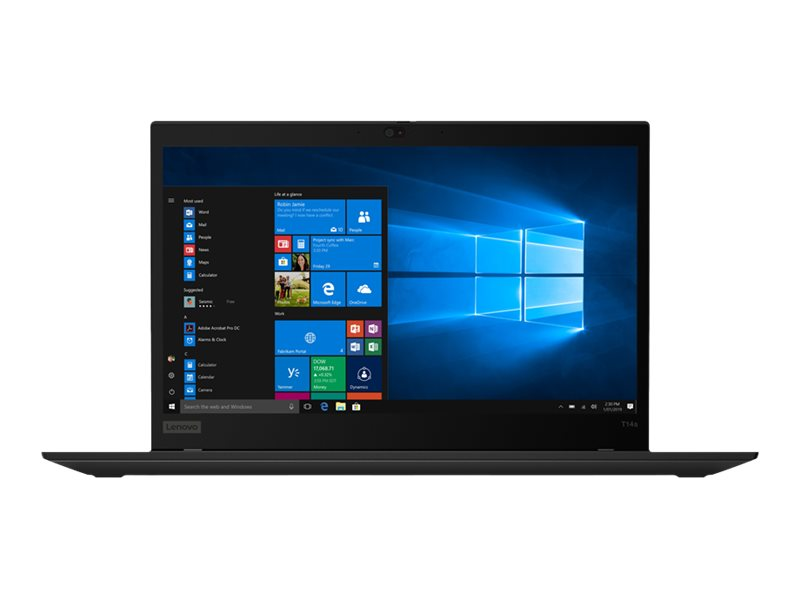 "Lenovo ThinkPad T14s Gen 1 20T0 - Core i7 10510U / 1.8 GHz - Win 10 Pro 64-Bit - 16 GB RAM - 512 GB SSD TCG Opal Encryption 2, NVMe - 35.6 cm (14"")"