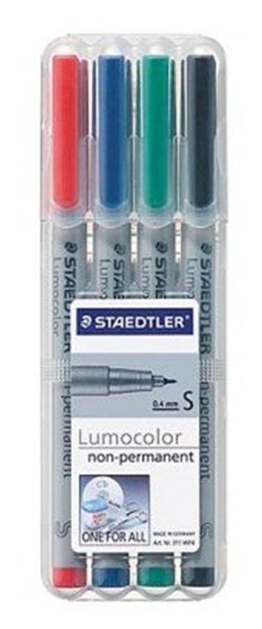STAEDTLER 311 WP4 - 4 Stück(e) - Schwarz - Blau - Grün - Rot - Grau - Polypropylen (PP) - 0,4 mm