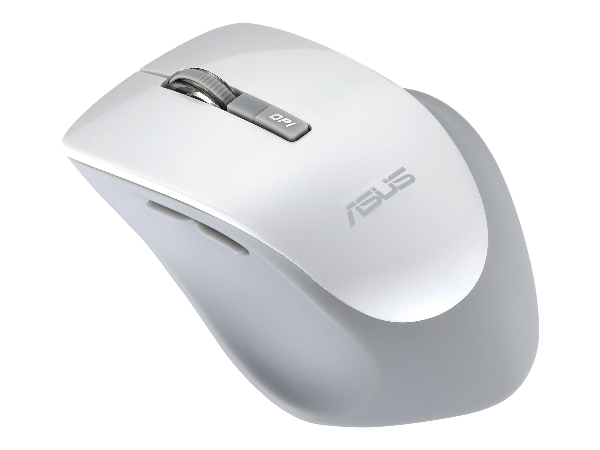 ASUS WT425 - Maus - Für Rechtshänder - optisch - 6 Tasten - kabellos - 2.4 GHz - kabelloser Empfänger (USB)