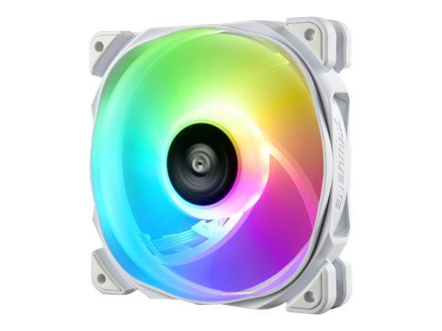 Enermax ETS-T50 AXE ETS-T50A-W-ARGB - White Version - Prozessor-Luftkühler - (für: LGA1156, AM2, AM2+, LGA1366, AM3, LGA1155, AM3+, LGA2011, FM1, FM2, LGA1150, FM2+, LGA2011-3, LGA1151, AM4, LGA2066)