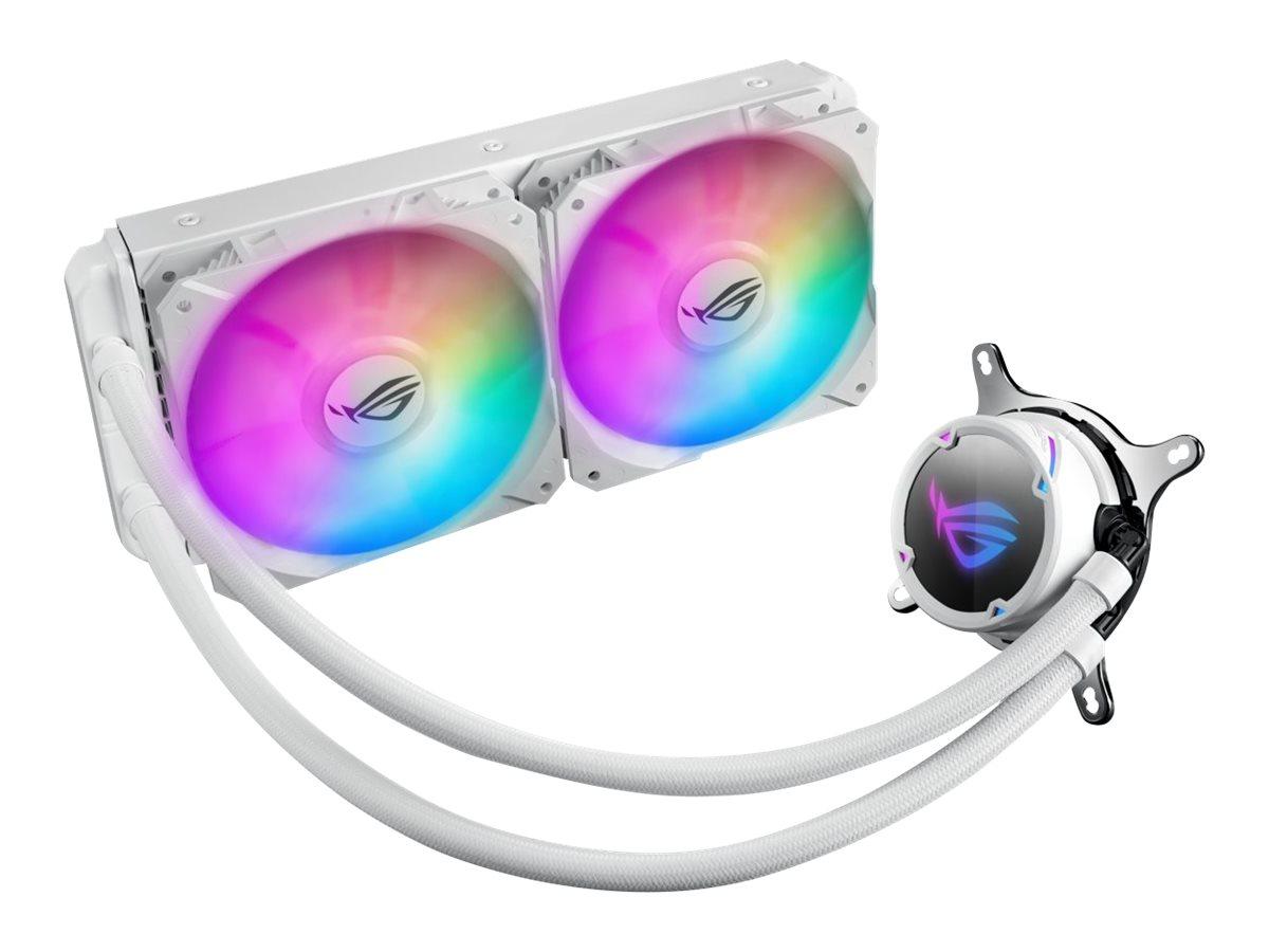 ASUS ROG STRIX LC 240 RGB - White Edition - Prozessor-Flüssigkeitskühlsystem - (für: LGA1156, LGA1366, LGA1155, LGA2011, LGA1150, LGA2011-3, LGA1151, AM4, LGA2066, TR4, LGA1200)