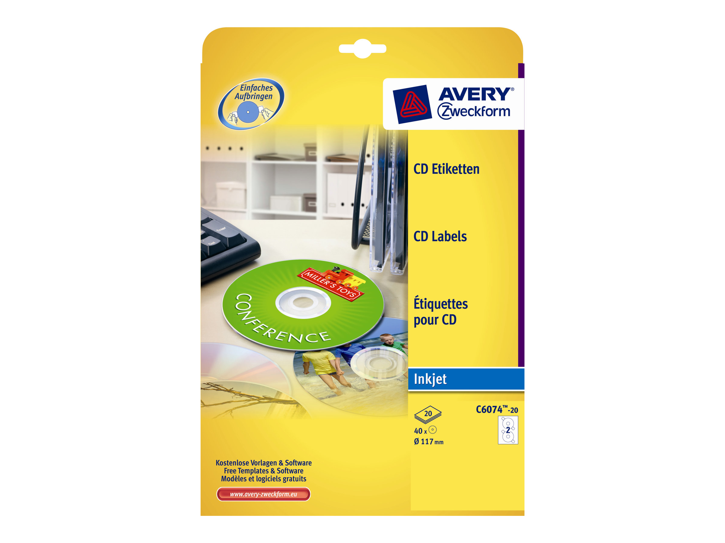 Avery Zweckform CD/DVD Labels - Glänzend