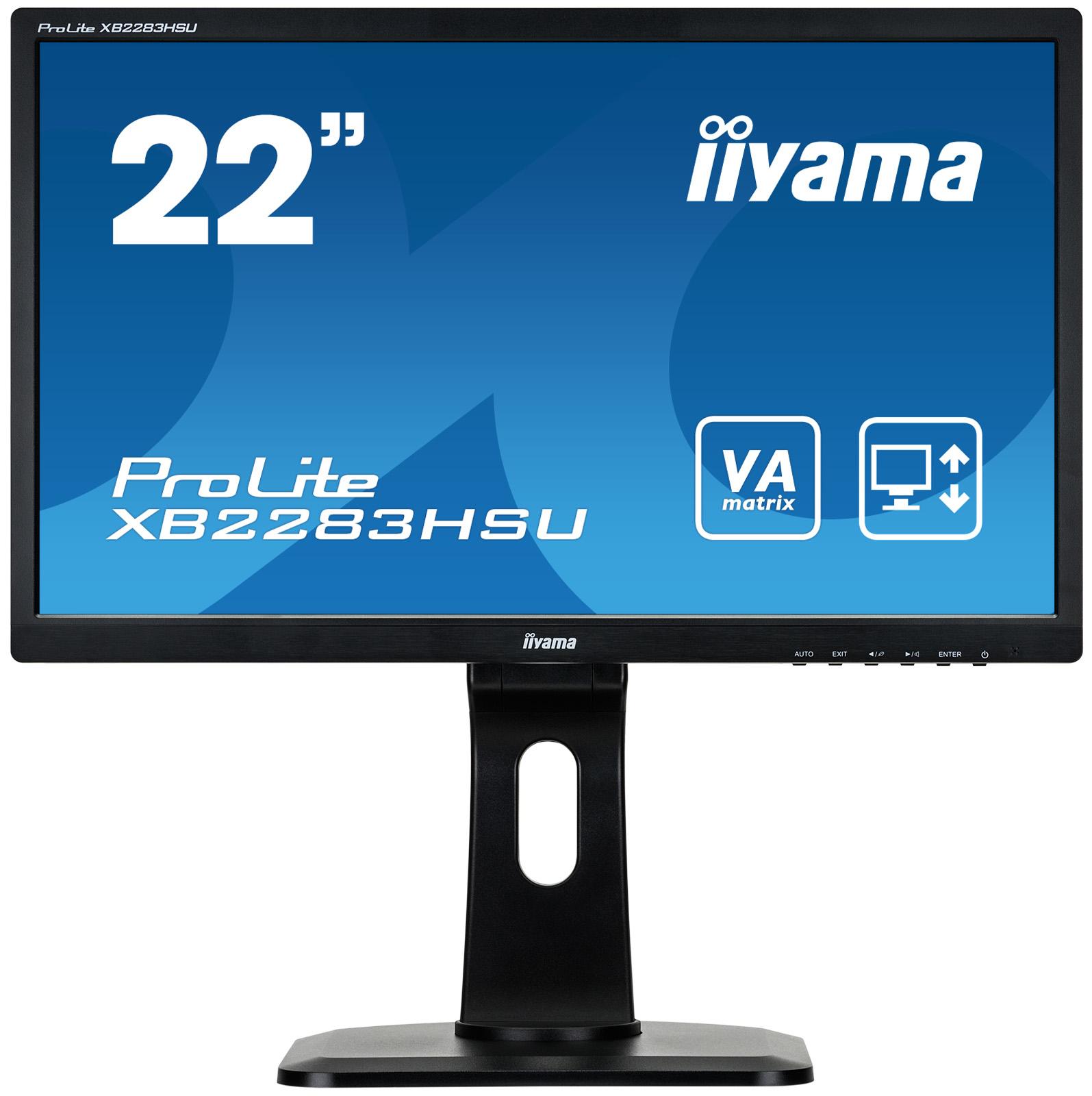 Iiyama ProLite XB2283HSU-B1DP - LED-Monitor - 55.9 cm (22) (21.5 sichtbar)