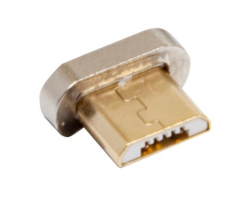 RealPower 168184 - Magnetic - Mikro-USB - Männlich - Gold