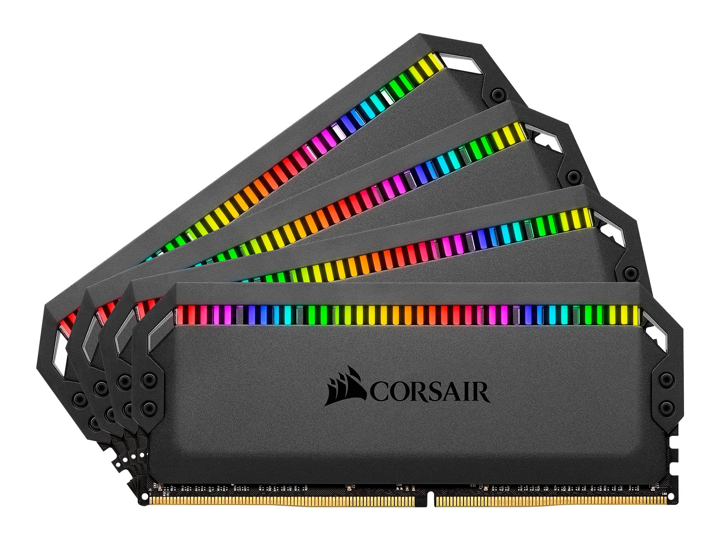 Corsair Dominator Platinum RGB - DDR4 - 64 GB Set: 4 x 16 GB