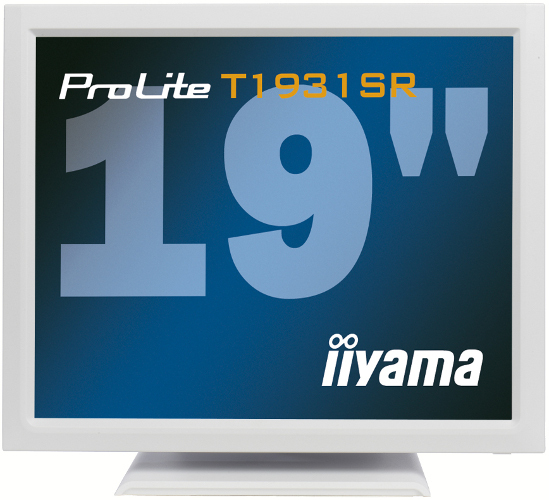 Iiyama ProLite T1931SR-1 19Zoll 1280 x 1024Pixel Tisch Weiß Touchscreen-Monitor