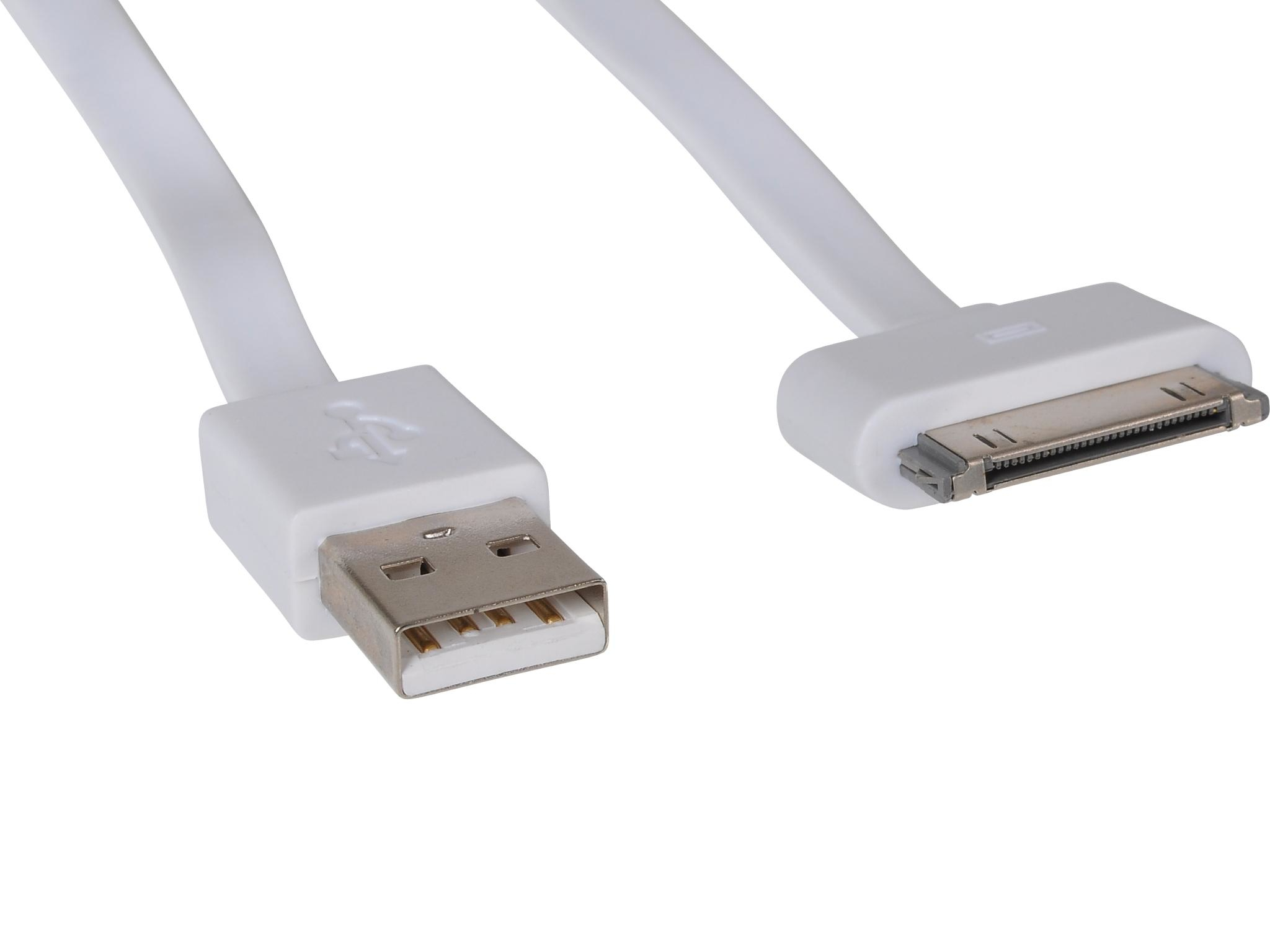 SANDBERG A/S Sandberg USB 30pin Cable Flat 0.15m