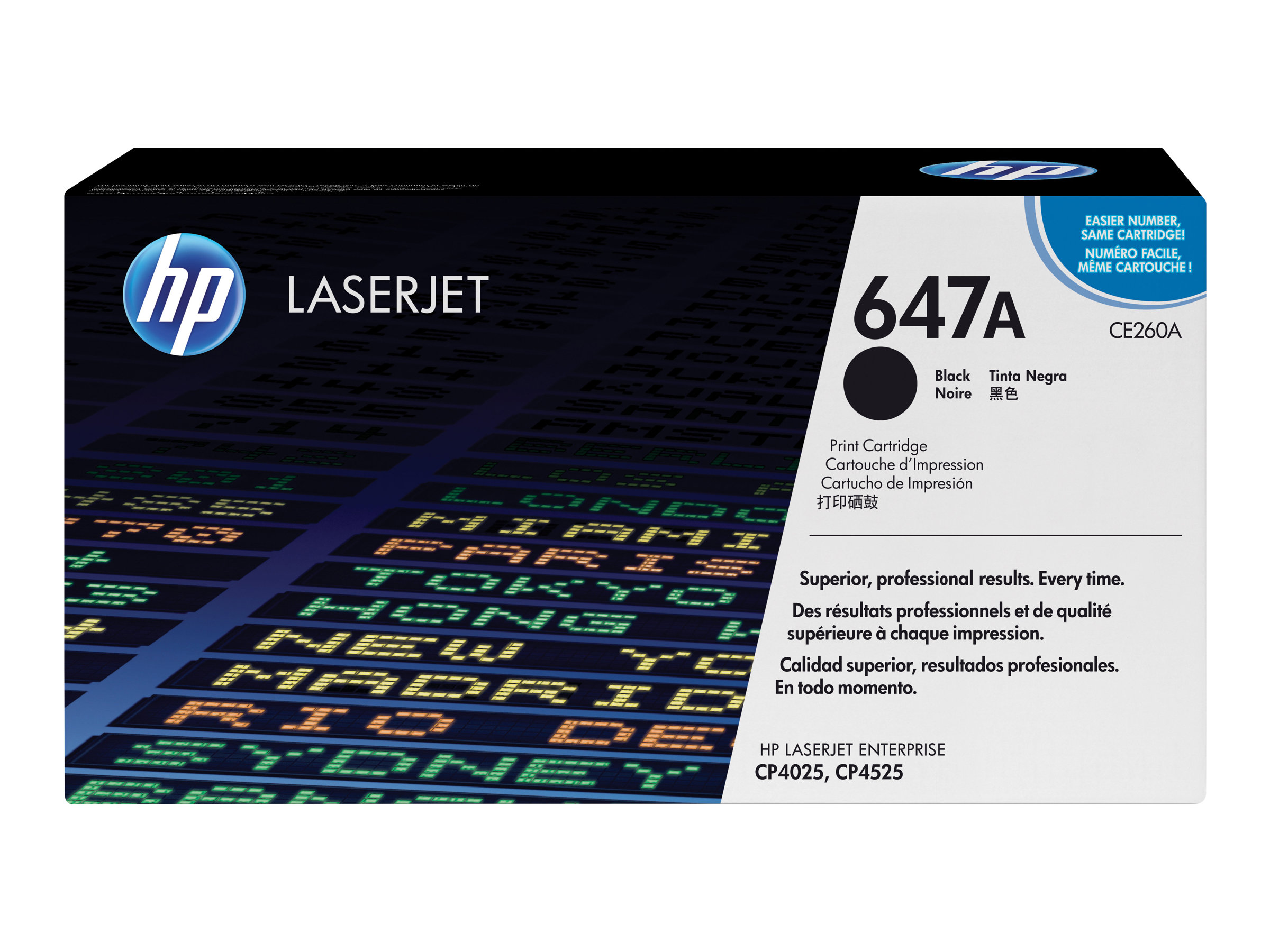 HP 647A - Schwarz - Original - LaserJet - Tonerpatrone (CE260A)